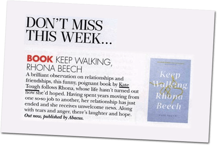 Keep Walking, Rhona Beech – Hello! Magazine review